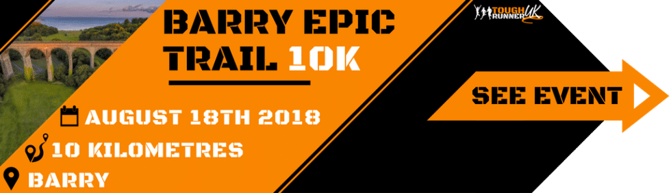 This is an image with information on the Barry Epic 10k taking place on 3rd March in Porthkerry, Barry