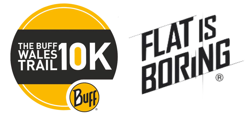 This is the buff 10k flat is boring logo variation 2