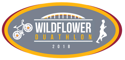 This is the main logo for the wildflower duathlon