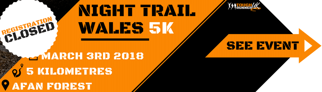 This is the information image on the night trail 5k taking place on 3rd march - registration closed.