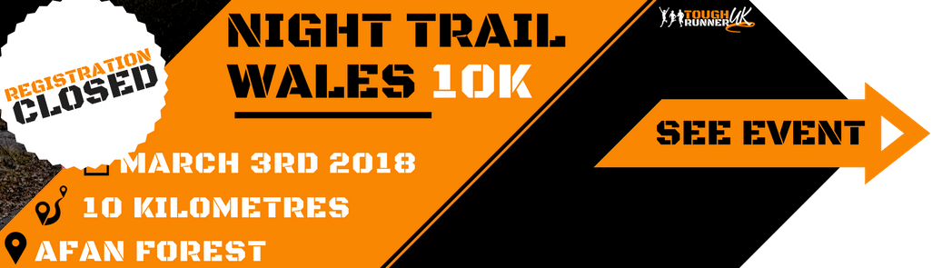 This is the information image on the night trail 10k taking place on 3rd march - registration closed.