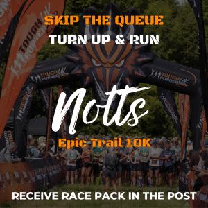 Nottinghamshire Epic Trail 10k – Skip The Queue – Race Pack Via Post