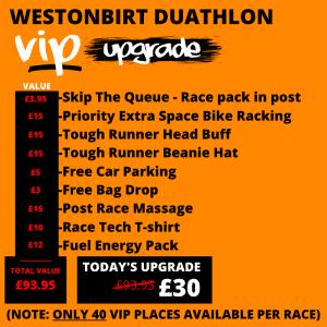 Westonbirt Duathlon VIP Upgrade