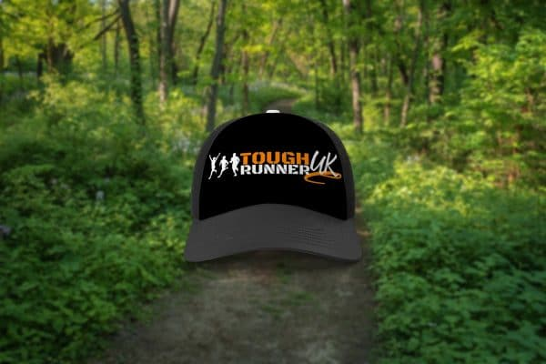 Tough Runner UK black on black trucker cap