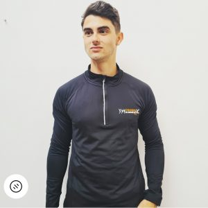 TR Tech Black – Long Sleeve with 1/4 Zip