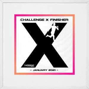 Challenge X January Display Frame
